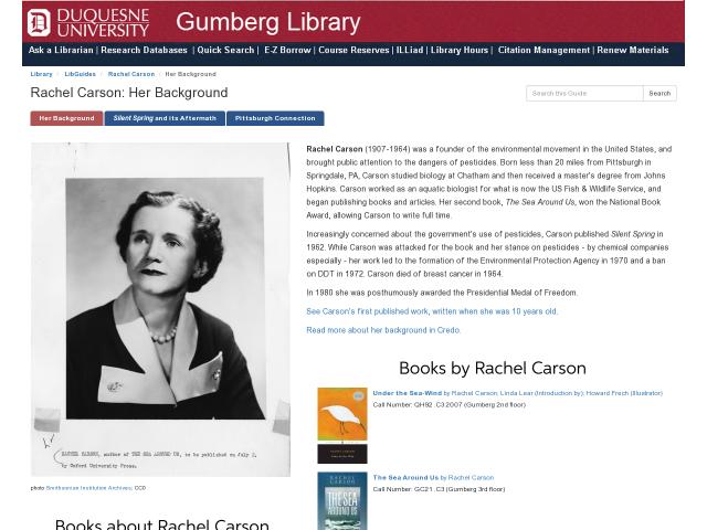 Rachel Carson Guide